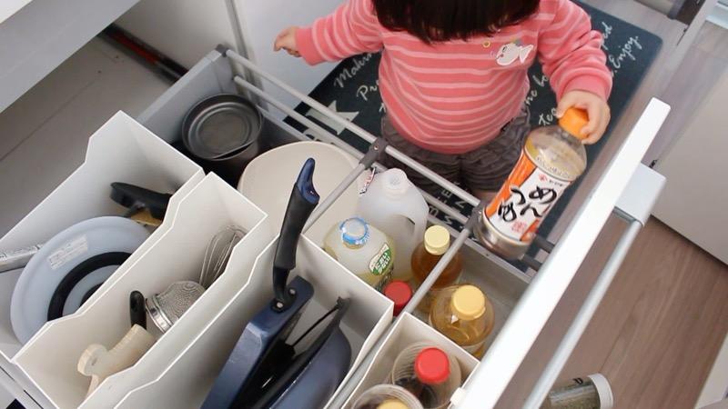 子どもいたずら_キッチン収納2