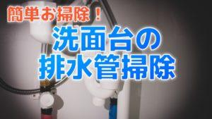 簡単お掃除!洗面台の排水管(S型トラップ)【動画あり】