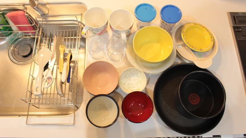食器洗う量