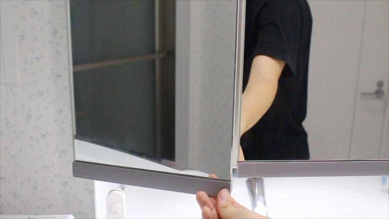 洗面台ミラー_普通の開け方