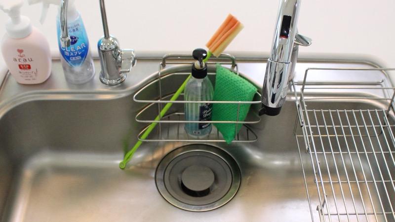 キッチン_シンクの水切りラック
