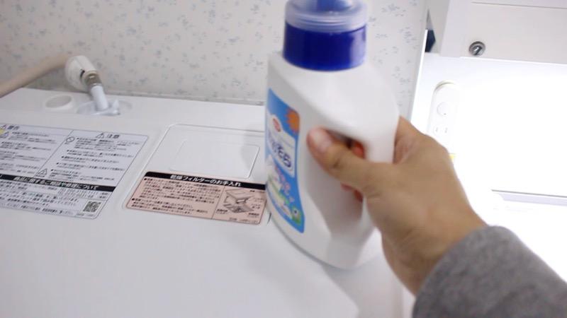洗面台収納_鏡内_左側_洗剤と洗濯機