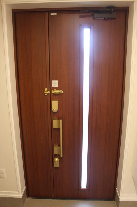 玄関ドア_スリットガラス