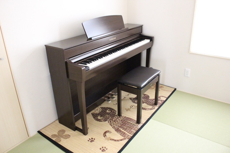 和室とピアノ