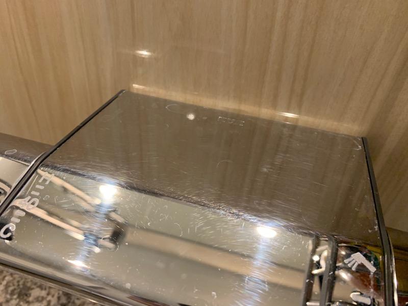 シャワーハンドルの細かい傷2