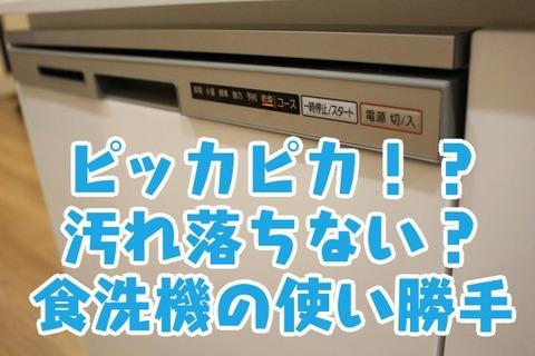 ピッカピカ!?汚れ落ちない?食洗機の使い勝手