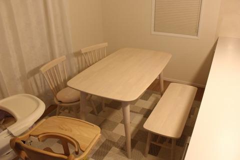 ダイニングテーブルの向き_我が家