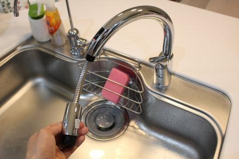 タッチレス水栓_伸びる