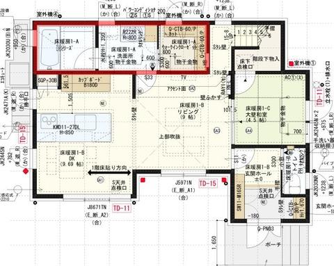 間取り_1階_風呂場・洗面所・WIC